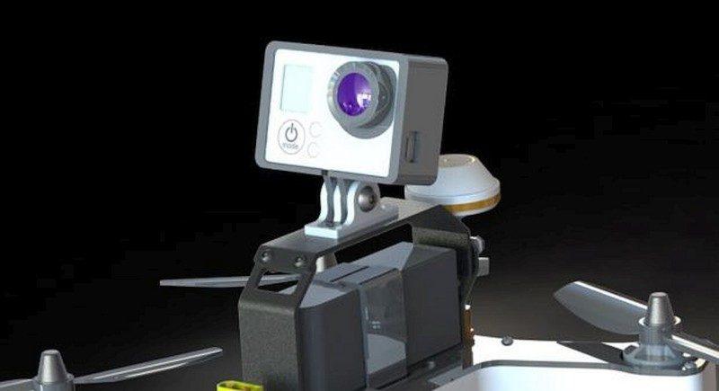 VIFLY R220 機頂可加裝轉接器,以供安放 GoPro HERO 運動相機,不過這需要購買升級套裝或頂級套裝才可擁有。