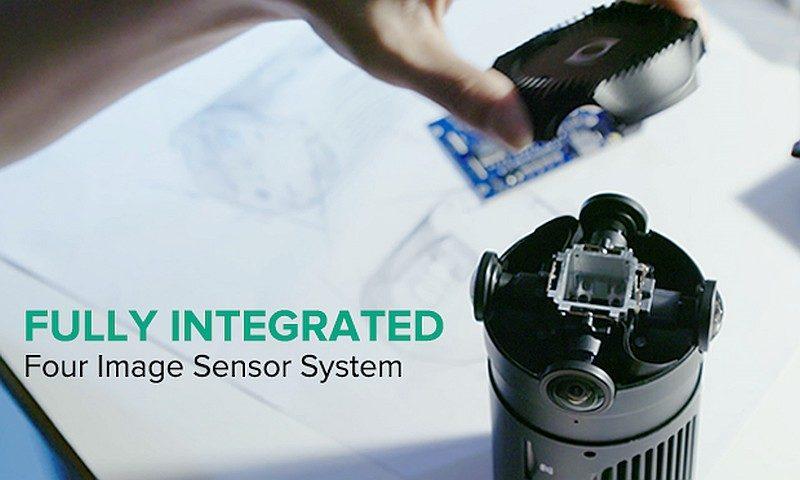 Z-Cam S1 用上 4 支 190 度拍攝視角的魚眼鏡頭,朝向 4 個不同方位盡攝四周環境。