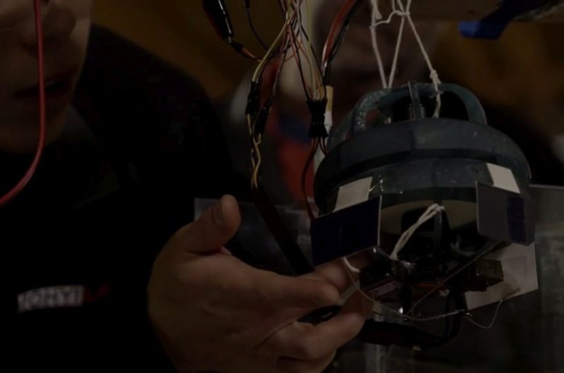 Bladeless Quad 無旋翼四軸機的反渦流推進器的雛形。