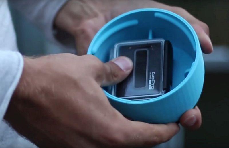 用戶可將 GoPro HERO 運動相機安裝在 AER 前端的相機盒內。