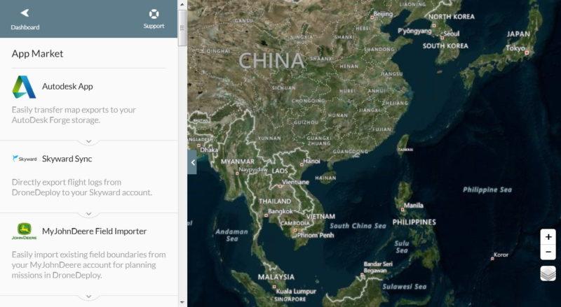 DroneDeploy App Market 介面(桌面網頁版)