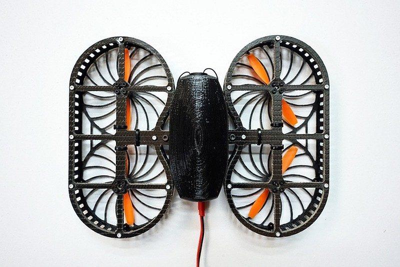 TONBO 次代原型機改良為一對雙旋翼結構。