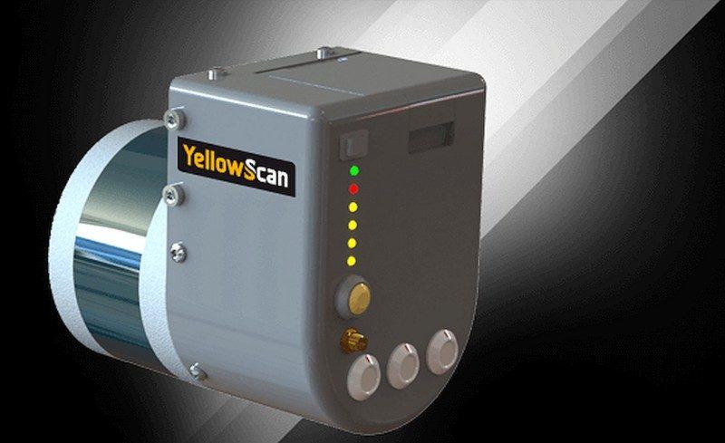 YellowScan Surveyor 裝置體積為100 × 150 × 140 毫米,總重量則 1.6 千克。