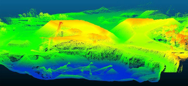 YellowScan Surveyor 採集的地形數據經處理後,可渲染為立體地形圖,以供企業用戶分析。