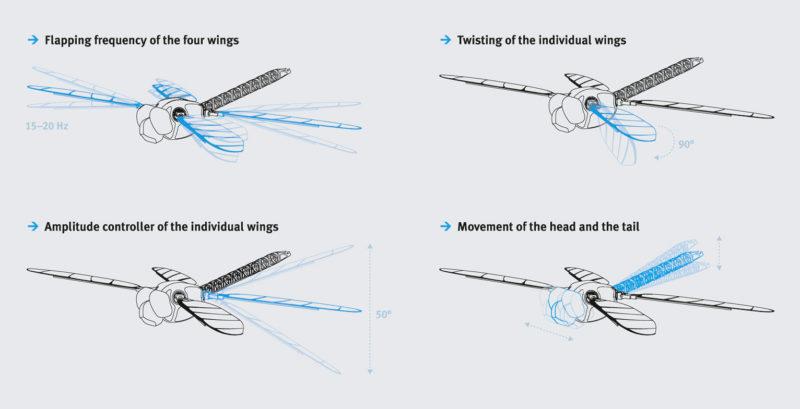 仿生蜻蜓的飛行特性相當獨特。