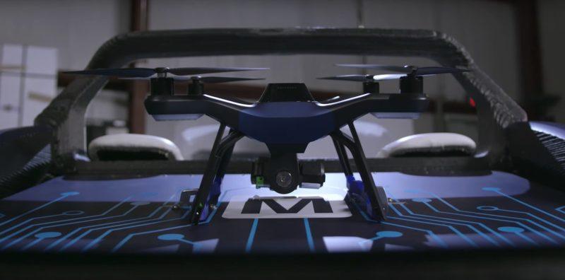 搭配 3D 列印車一起操作的是已較少人用的 3D Robotics Solo 空拍機。