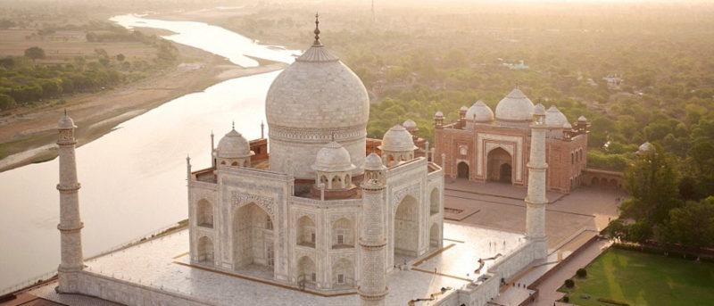印度 泰姬陵 空拍 遊客 美國