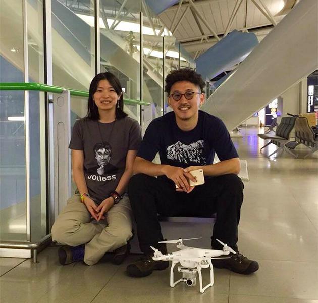 兩夫婦由日本出發,完成度蜜月兼環遊世界一周的壯舉。