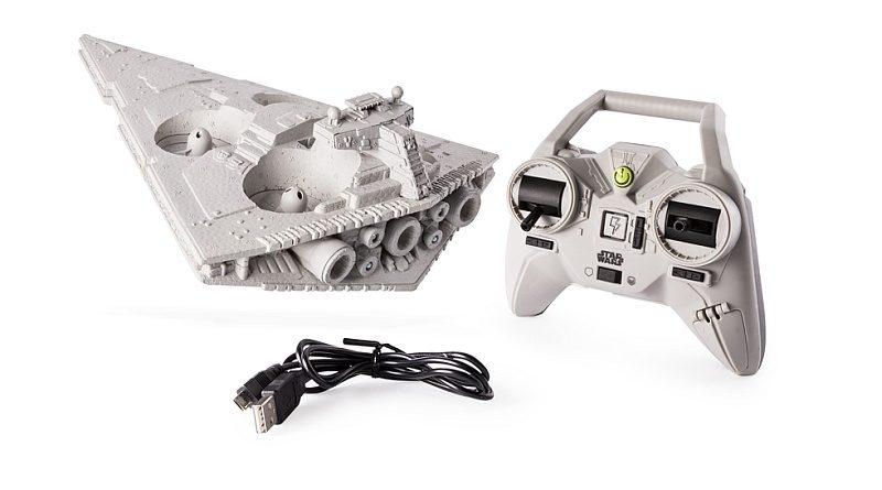 Air Hogs 滅星者無人機機身上的細節均是參照《星戰》滅星者的特徵設計而成,造工相當精細。