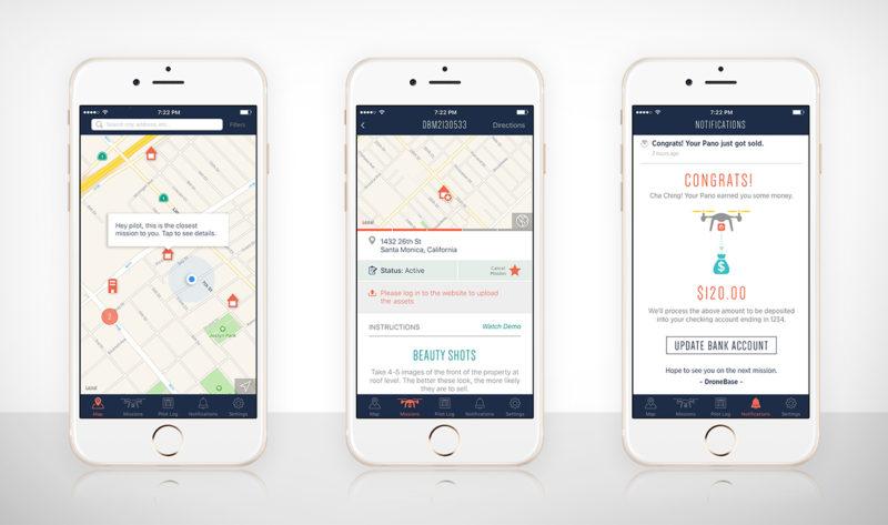 DroneBase 向飛手提供的 app