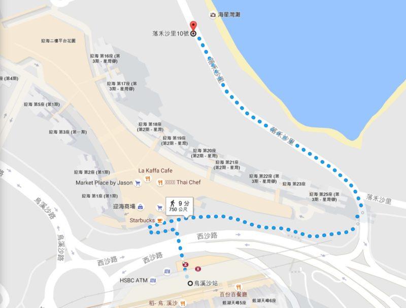 航拍景點地圖:烏溪沙海星灣