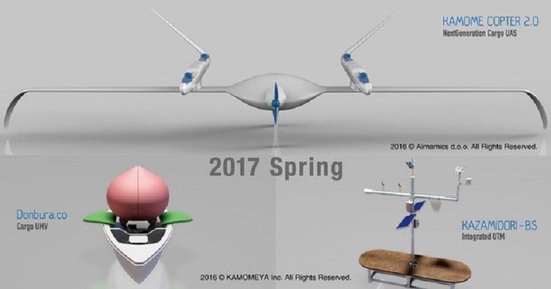 無人駕駛飛機和無人自駕船的設計概念圖。