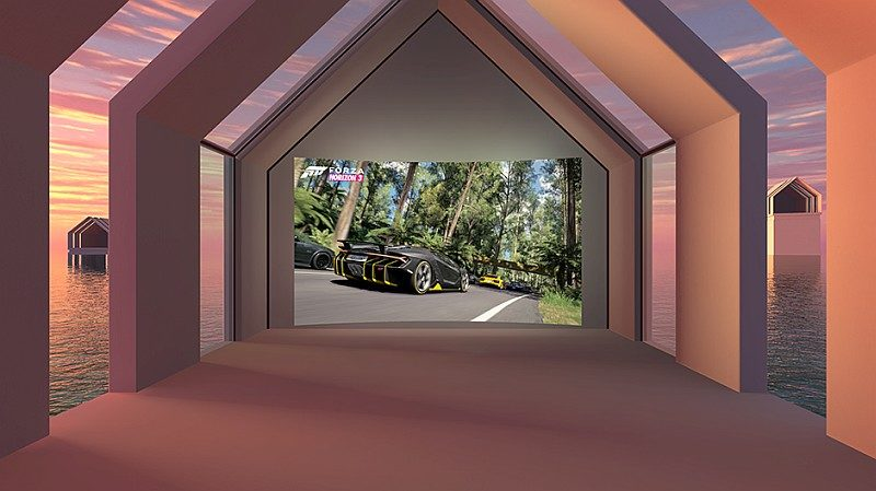Oculus Rift 可提供堡壘(Citadel)、隱居處(Rretreat)、圓拱頂(Dome)三種背景選擇。