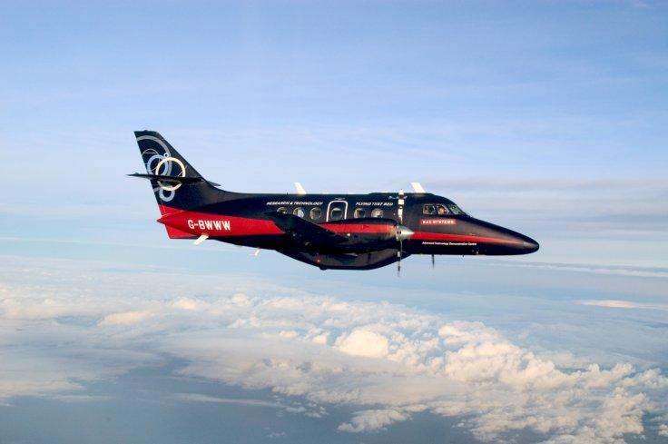 受測試飛機型號為 Jetstream 31,最多載客 16 人。