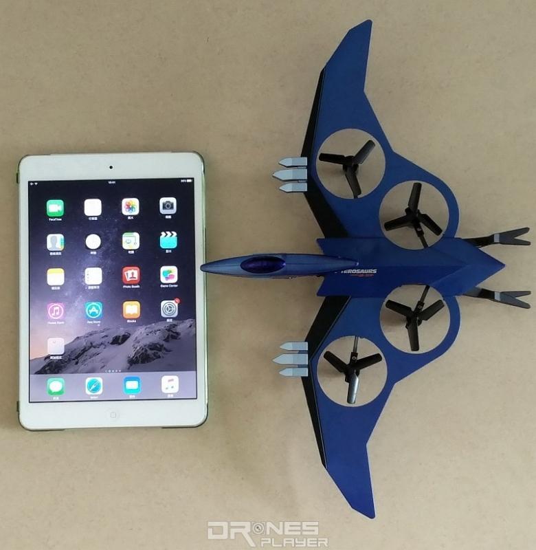 JXD 511V 飛行器的尺寸比 iPad Mini 2 還要大得多。