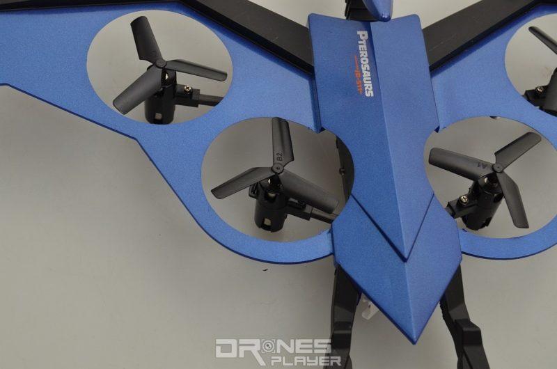 JXD 511V 機身全面包裹著四組槳翼;其槳翼採用屬三葉片式設計。