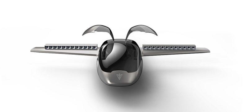 流線形的機身配上鷗翼車門設計,這方面終讓 Lilium Jet 有點像汽車的樣子。