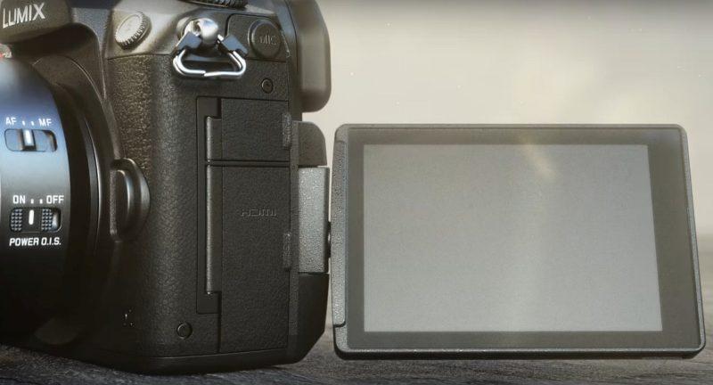Panasonic LUMIX GH5 的 162 萬畫素機身預覽屏幕可作多角度翻轉。