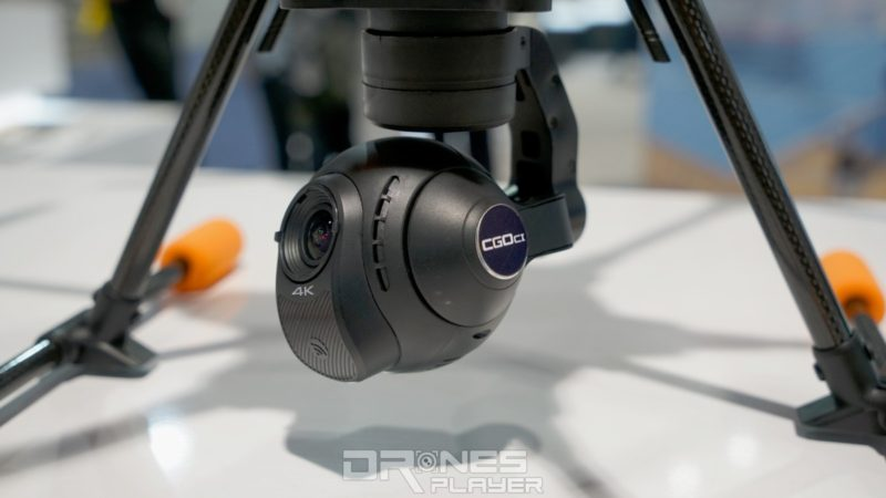 CES 2017 上展出的 Typhoon H520 裝配了 Yuneec CGO-C1 航拍相機。