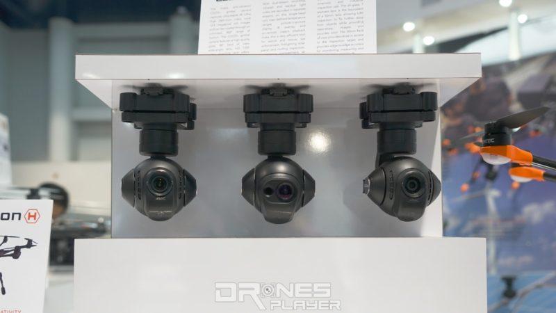 Yuneec Typhoon H520 兼容以上航拍雲台相機:(左起)CGO3+、CGO-ET、CGO-Cl。