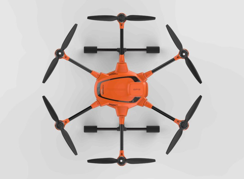 Yuneec H520 的黑配橙機身相當搶眼。