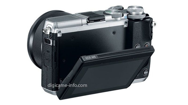 Canon EOS M6 機背設有一組快速轉盤,以及可上下翻折的 3 吋屏幕。