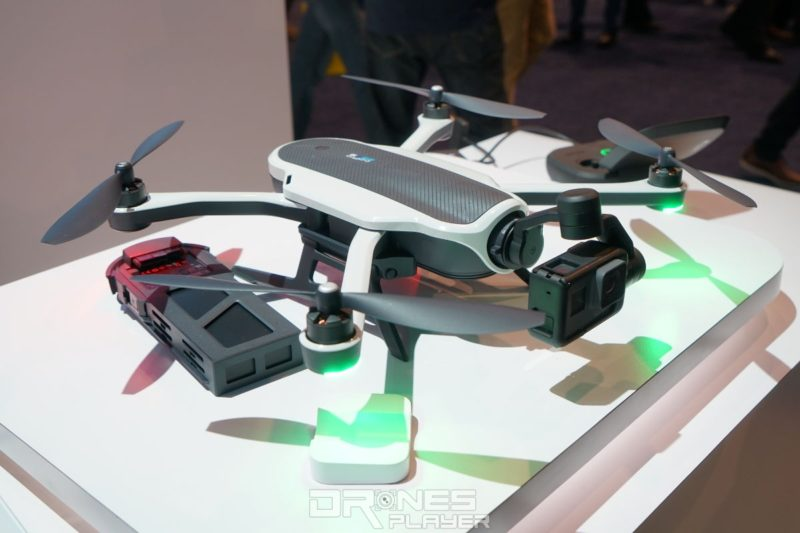 GoPro Karma 無人機與電池,於 CES 2017