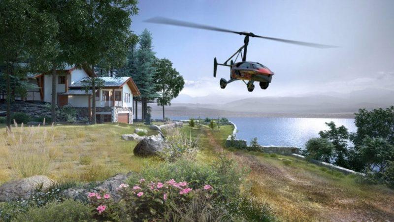 Pal-V Liberty 可降落在後花園的草地,一落機便已回到家。