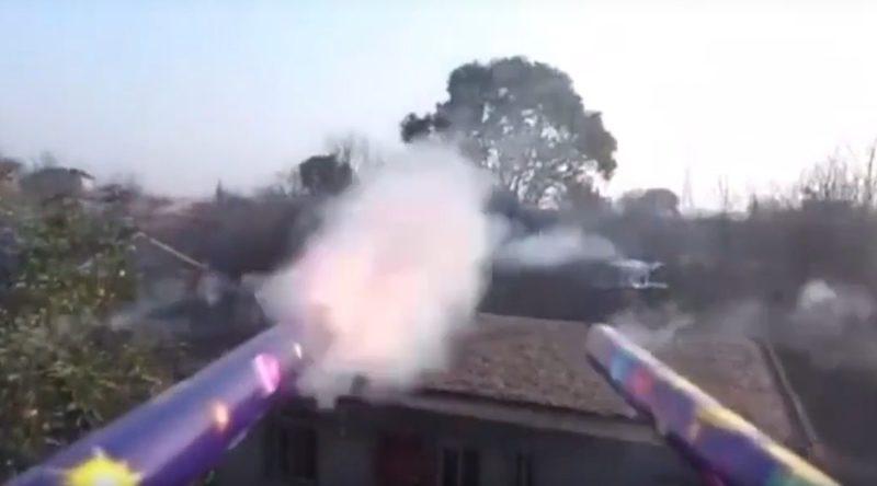 中國 新年 煙花 航拍機