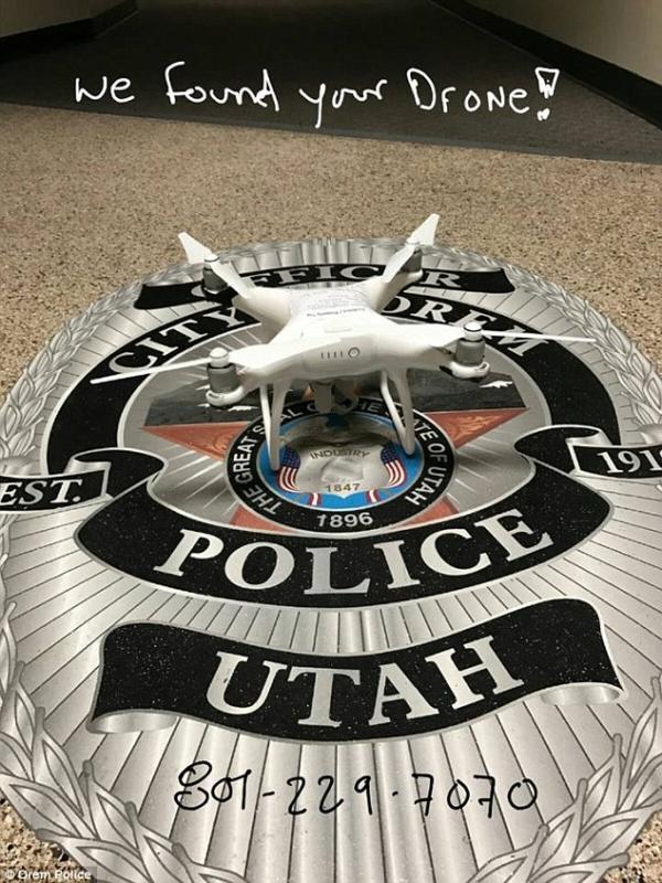 警方曾將涉事航拍機照片放上 Facebook,奉勸機主到警局投案。