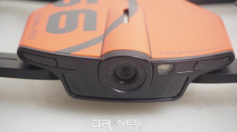 Wingsland S6 機首裝設 1,300 萬拍攝畫素的航拍相機,可錄影 4K 影片,鏡頭旁設有補光燈。
