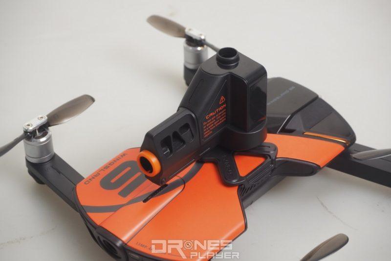 用戶可替 Wingsland S6 加裝不同的功能模組,如上圖所示的彈珠砲台。