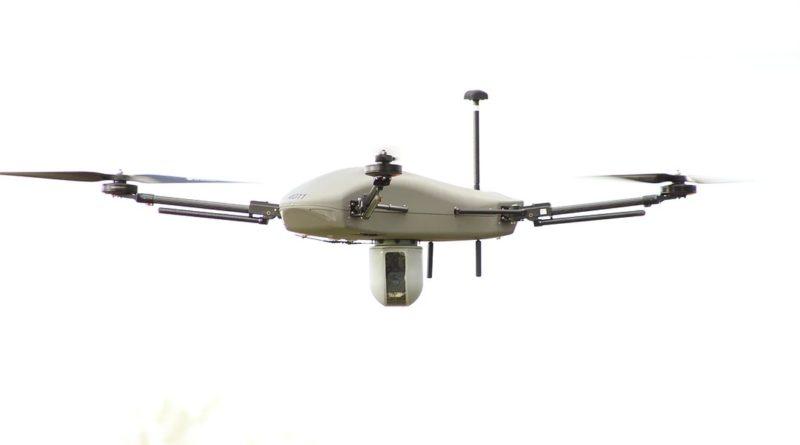 Thor 雷神無人機腹部凸出裝置,內藏光電及紅外線雙重感測器,能以 360 度方式勘察四周環境。
