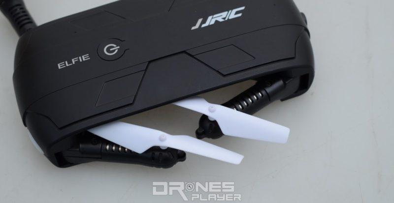 JJRC H37 的軸臂可朝向機體折疊收起。