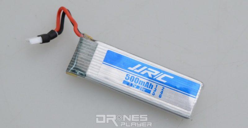 JJRC H37 使用可換式 3.7V / 500mAh 電池。