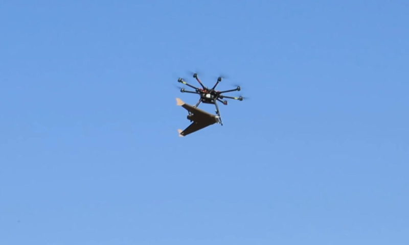用多軸機運送 Otherlab APSARA 紙製定翼機