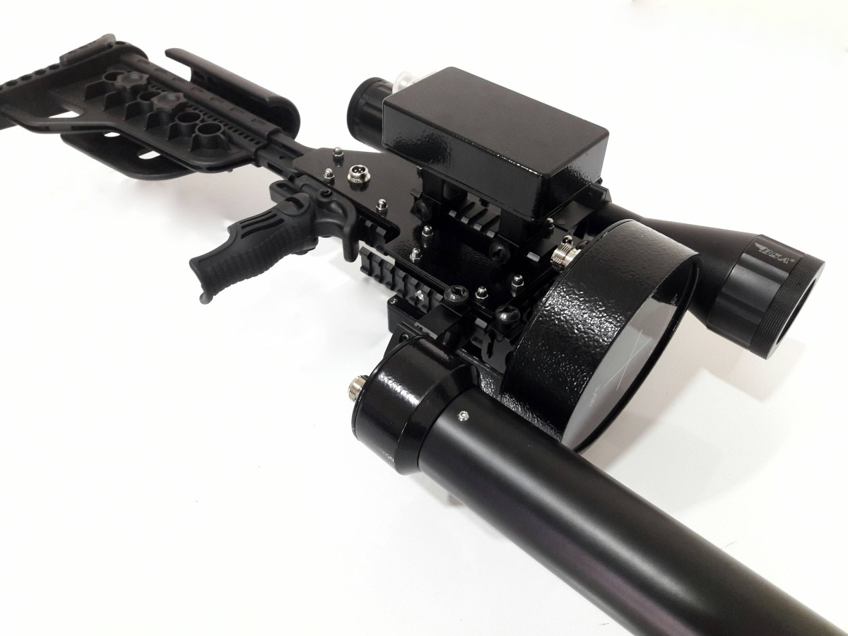 Drone Killer 反無人機電磁槍的側面