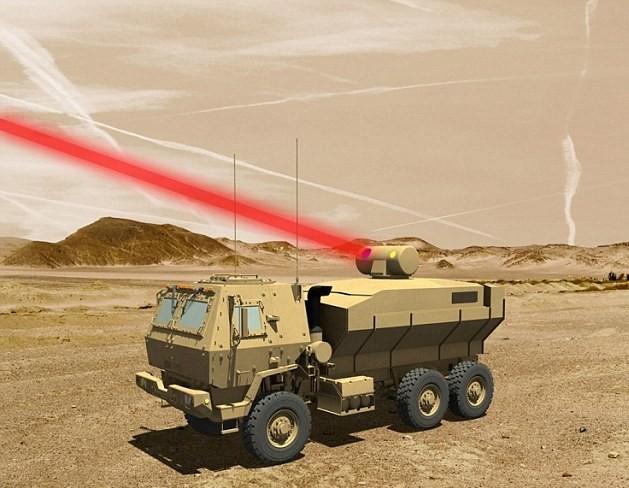 激光武器可安裝在軍車上,提供陸對空防衛。