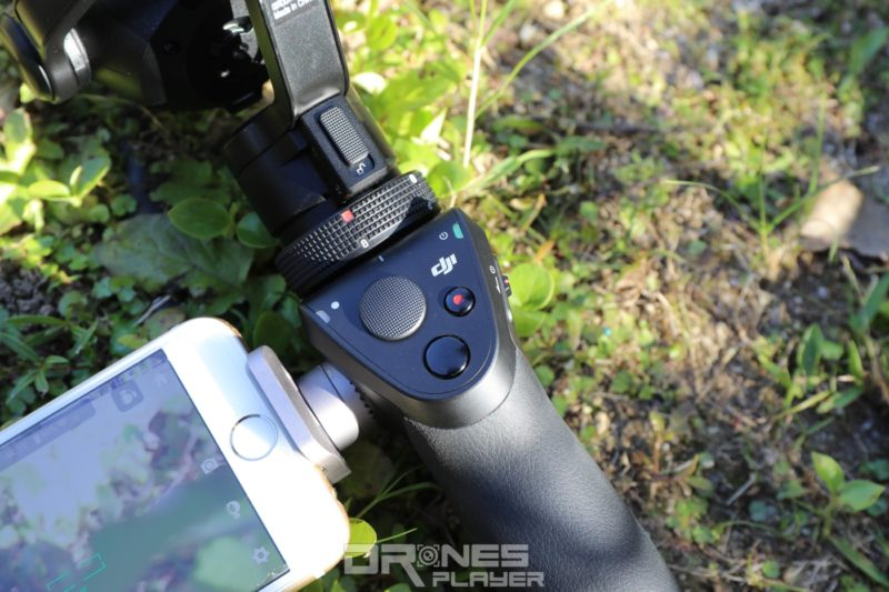 Osmo+ 機身有搖桿,操作起來更方便靈活。
