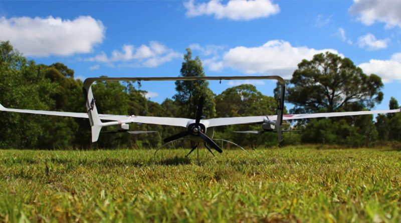 Carbonix Volanti 無人機機尾的螺旋槳可提供推進力,讓機體水平飛行。