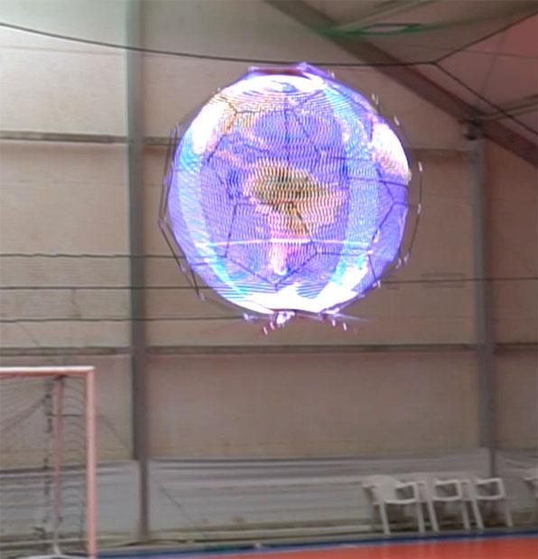 NTT Docomo 球形無人機顯示屏飛行中