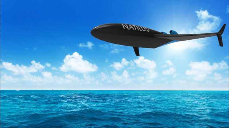 Natilus Drone 採用海空兩棲設計,可於水上直接起降,因此能夠停泊在海面裝卸貨物。