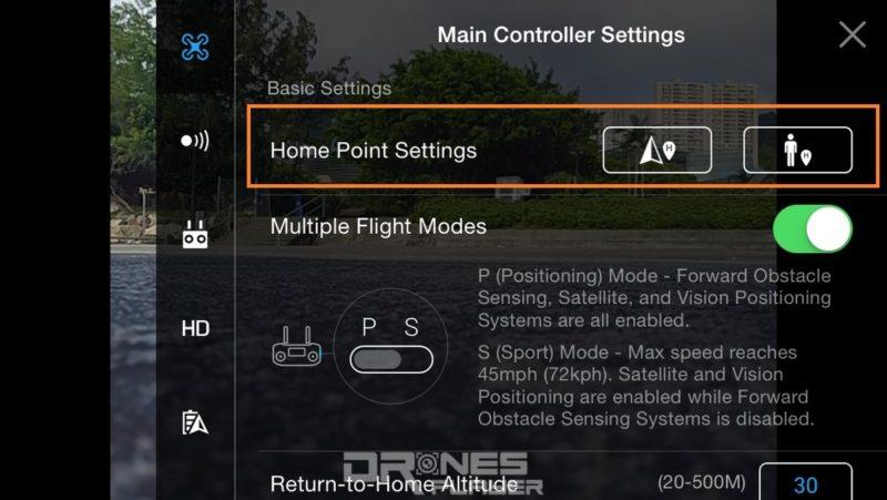不少新型無人機可把遙控器所在位置設定為返航點。