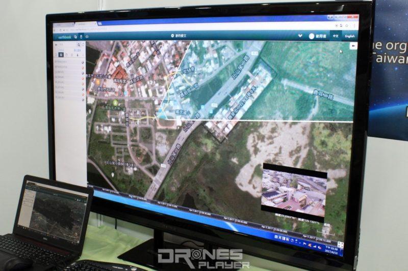 earthbook 用戶可通過網頁瀏覽器上傳空拍機的飛行數據,在地圖上重現飛行軌跡。