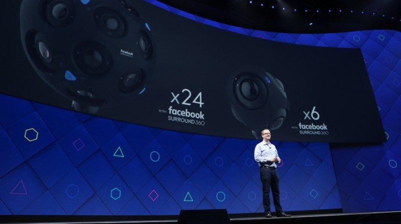 在 F8 開發者大會上,開發人員介紹 x24、x6 兩款全景攝影機,展示 Facebook 在 VR 技術上的最新發展路向。