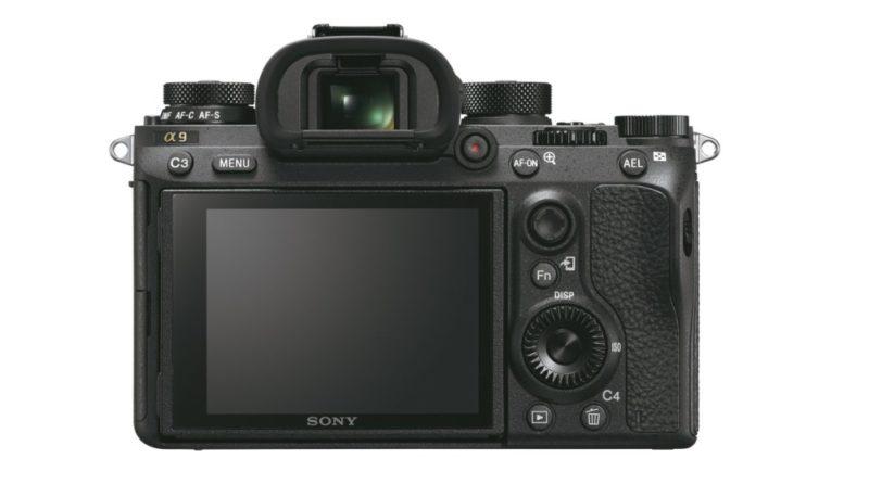 Sony A9 機身背面的按鍵布局。