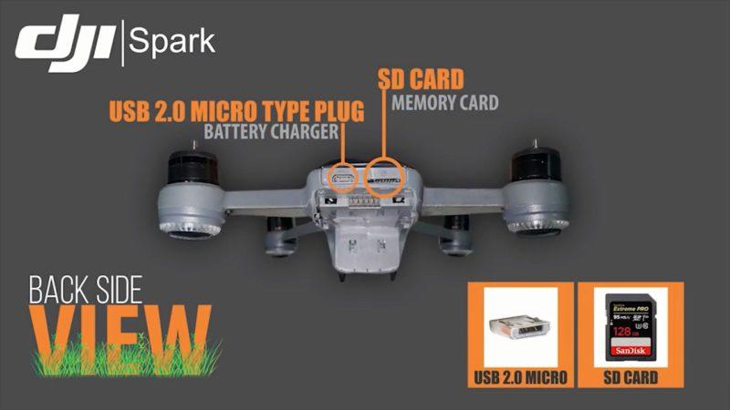 DJI SPARK 傳聞回顧影片:USB 接口及 SD 卡槽