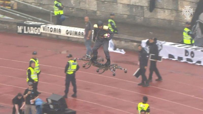 2017 年度葡萄牙盃用無人機載人送球 - 起飛