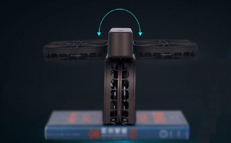 星圖時光無人機兩側的機臂連網罩可朝向中央對折。