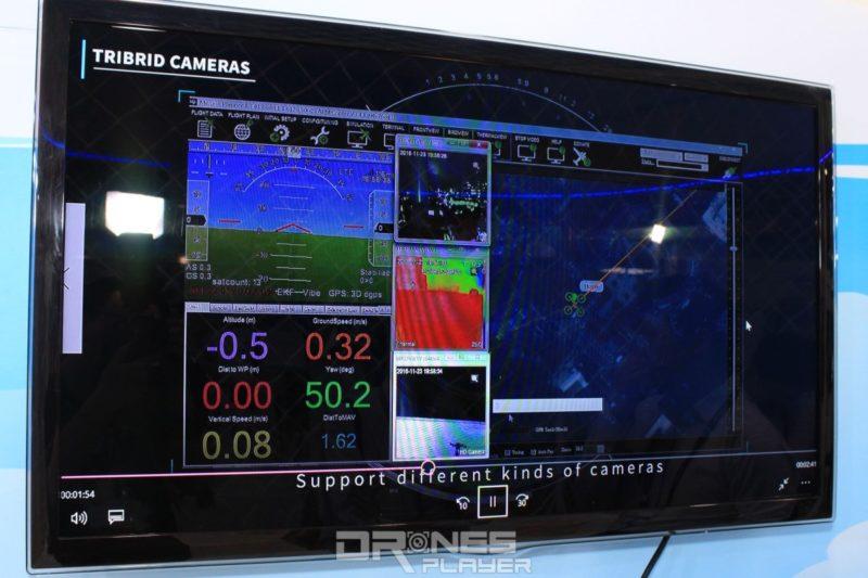 4G 無人機操控介面具有航拍圖傳畫面、熱感影像、電子地圖等資訊。